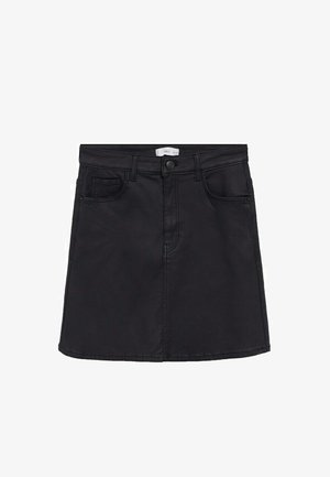 BEVERLY - Denim skirt - sort denim