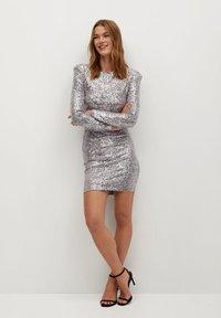 Mango - LENJUELA - Cocktail dress / Party dress - zilver - 1