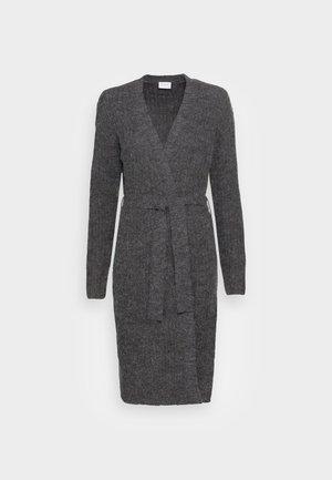 VITIKTA LONG CARDIGAN - Cardigan - mottled darg grey