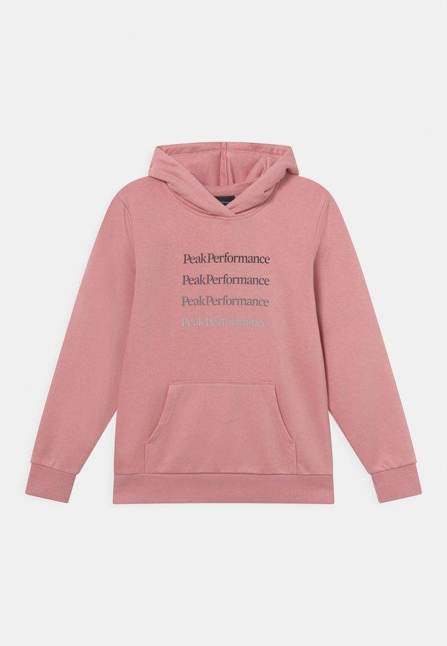 JR GROUND HOOD UNISEX - Sweatshirt - warm blush