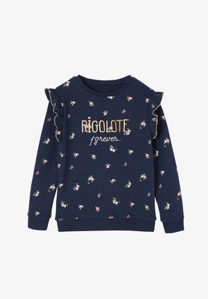 Sweatshirt - nachtblau bedruckt