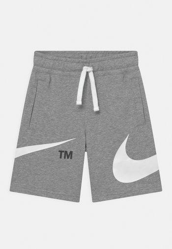 Shorts - dark grey heather/white