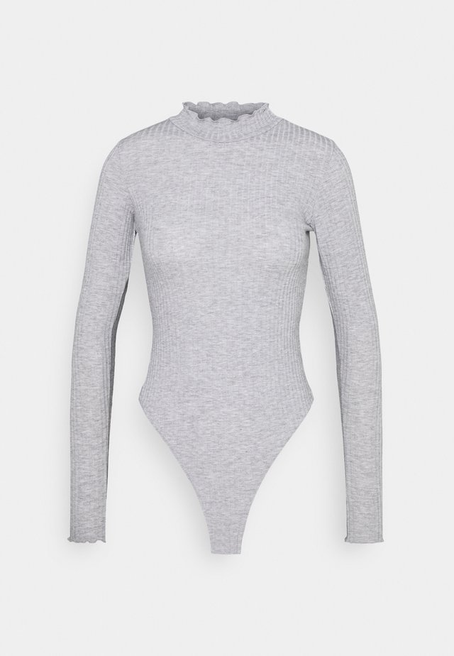 TURTLE NECK BODY - Long sleeved top - mid grey