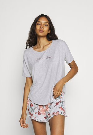 SHORT CAMI FLOWER - Pyjama - grey