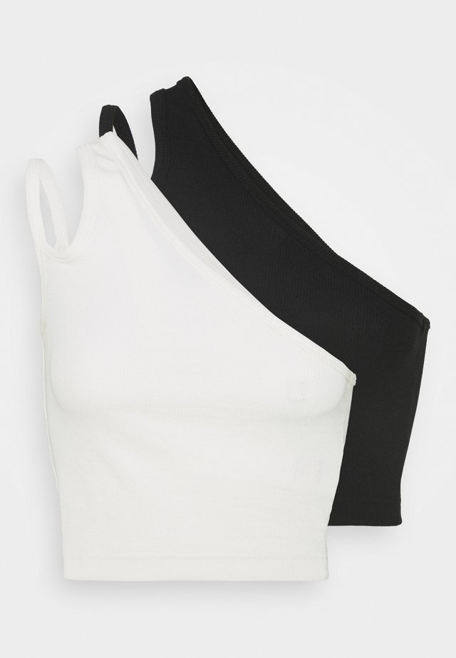 STRAP CROP 2 PACK - Débardeur - off white/black