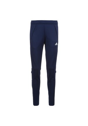 CONDIVO - Tracksuit bottoms - navy blue / white
