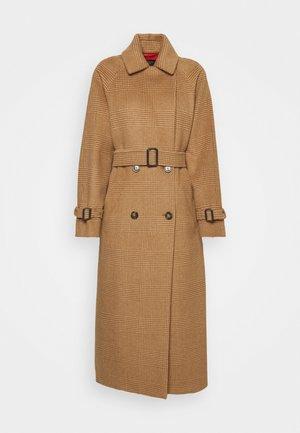 GORDON - Classic coat - caramel