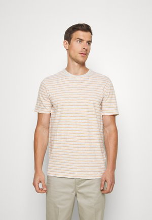 VINTAGE SLUB STRIPE CREW - T-Shirt print - light oatmeal
