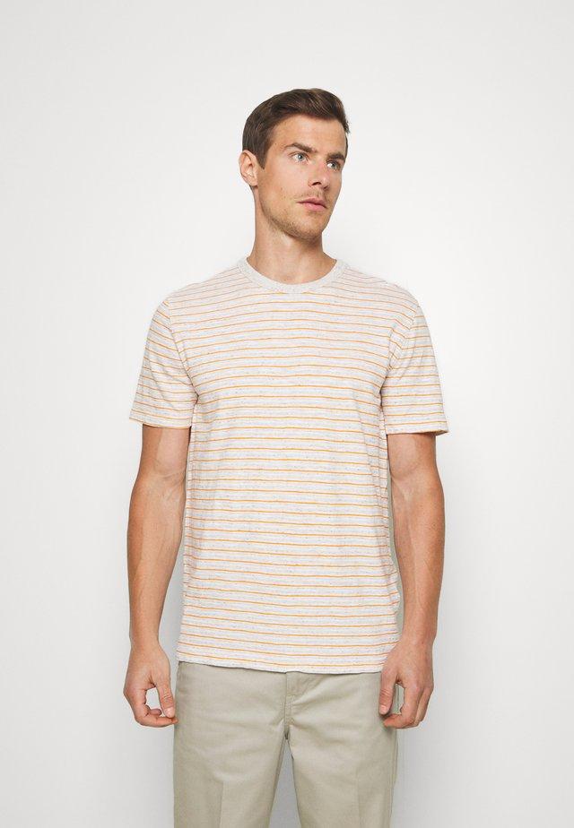VINTAGE SLUB STRIPE CREW - Print T-shirt - light oatmeal