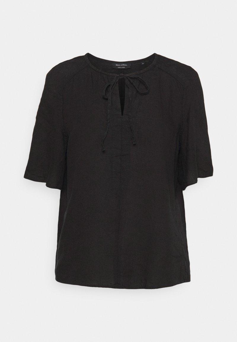 Marc O'Polo - BLOUSE SHORT SLEEVE TUBE-TAPE - T-shirts print - dark atlantic