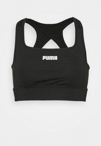 PAMELA REIF X PUMA SQUARE NECK BRA - Medium support sports bra - black
