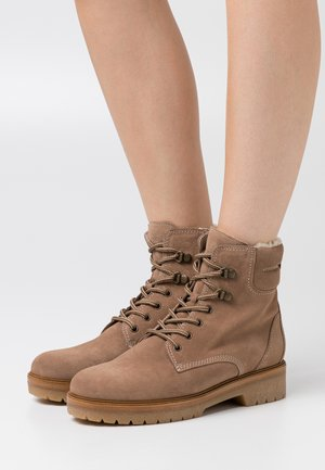 Lace-up ankle boots - desert