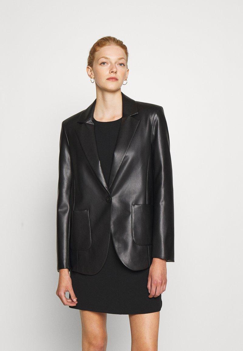 Patrizia Pepe - JACKETS - Faux leather jacket - nero