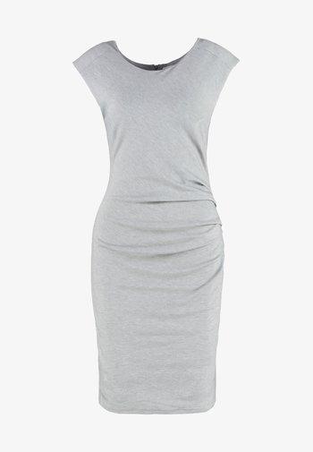 INDIA O NECK - Vestido de tubo - grey