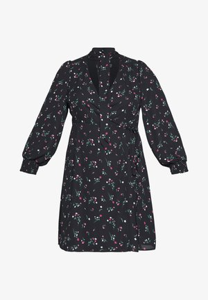 PEEPO DRESS - Day dress - black base/bouquet floral