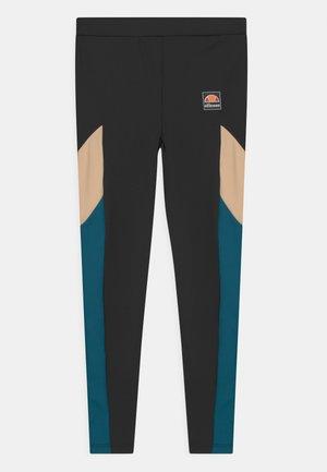 BREEA UNISEX - Leggings - black/light brown/teal