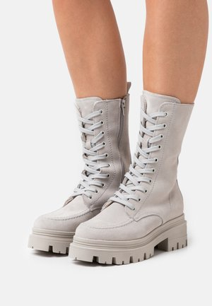 Lace-up boots - light grey