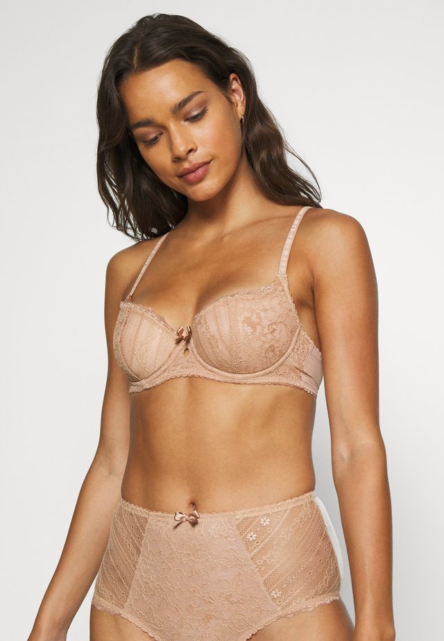 REMIX LIGHTLY PADDED UNDERWIRED BRA - Balconette bra - beige
