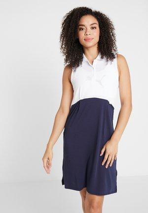 DRESS - Jersey dress - bright white/peacoat