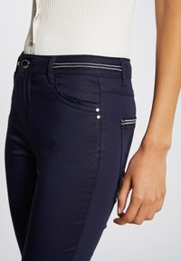 Morgan - WITH WET EFFECT - Trousers - dark blue - 3