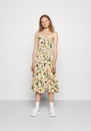 BUTTON DRESS - Sukienka letnia - multi-coloured/light yellow