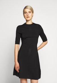 HUGO - SHATHA - Pletené šaty - black - 0
