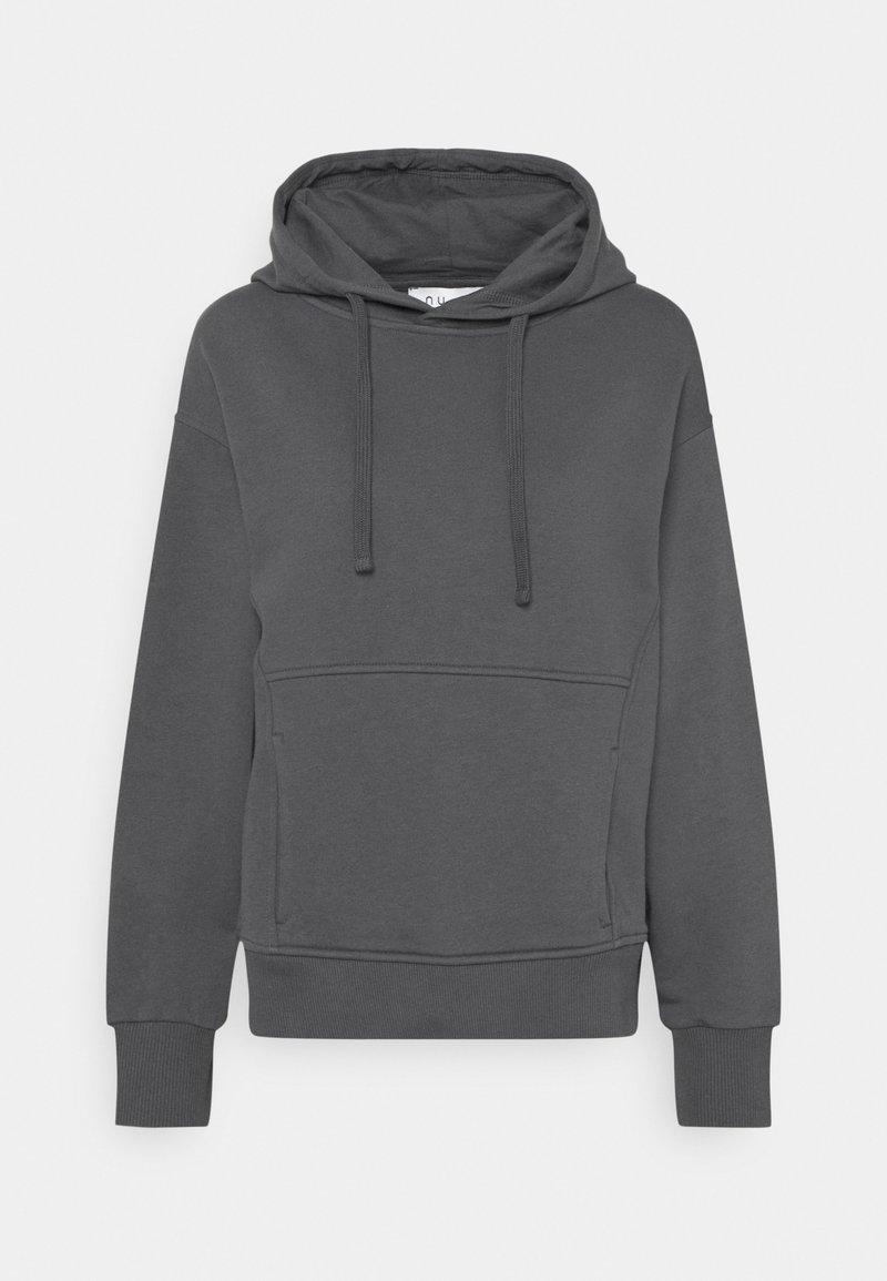 NU-IN - MINIMAL HOODIE - Sweatshirt - dark grey