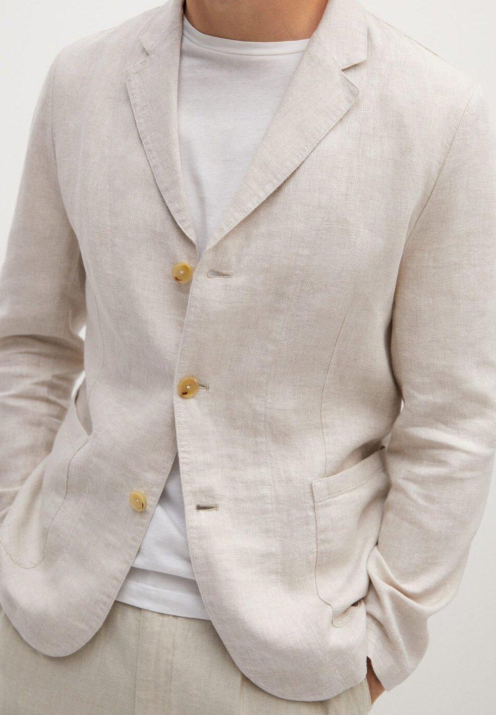 Mango BISLEVA - Blazer - beige