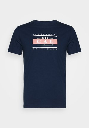 JORANTHONY - Print T-shirt - navy blazer