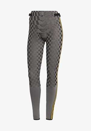 PAOLINA RUSSO REF COLLAB SPORTS INSPIRED SLIM TIGHTS - Leggings - black/reflective silver/active gold