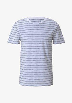 MIT STREIFENMUSTER - T-shirt med print - white black injected stripe