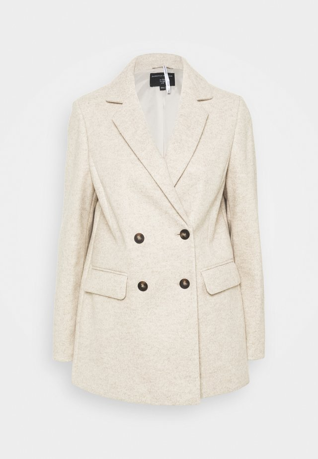DOUBLE BREASTED COAT - Short coat - oatmeal