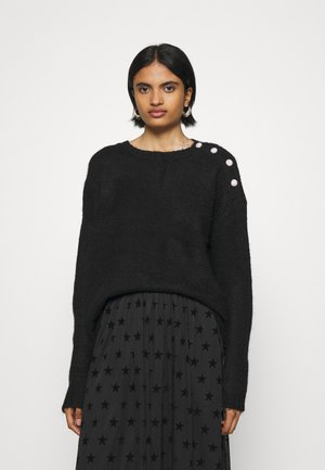 VMABYJEWEL O-NECK BLOUSE - Strickpullover - black