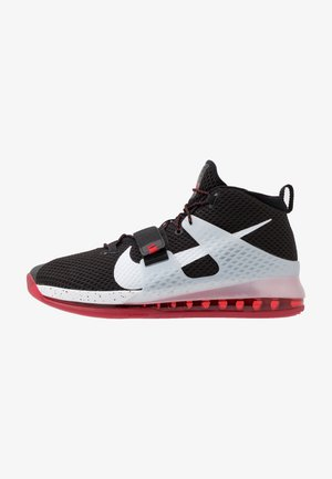 Nike Air Force Max II Basketballschuh - High-top trainers - black/white/university red/wolf grey