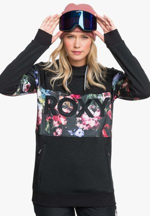 LIBERTY HOODIE - Hoodie - true black blooming party