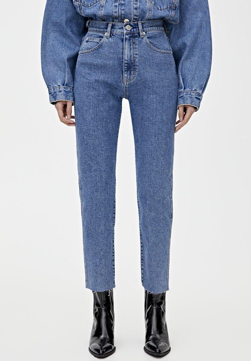 PULL&BEAR - MOM - Jeansy Slim Fit - blue