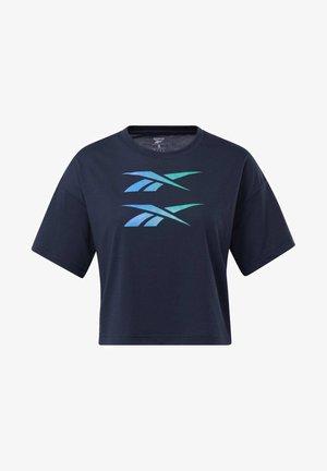 BOXY T-SHIRT - T-Shirt print - blue