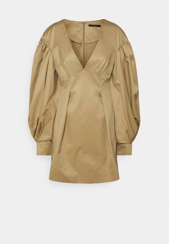 MINI DRESS  - Korte jurk - stone