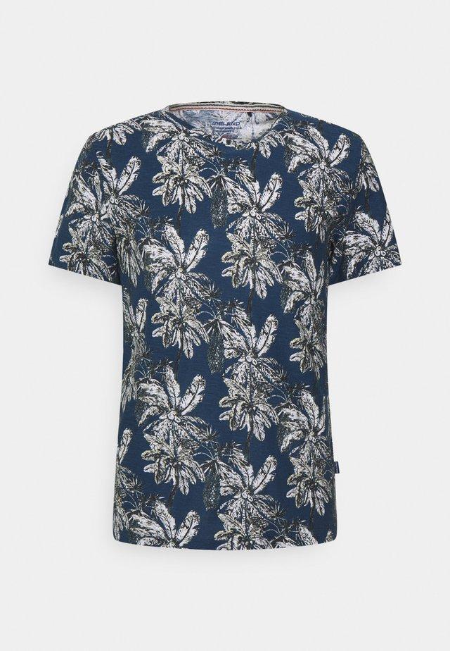 T-shirt con stampa - dark denim