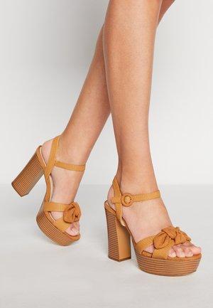 AMAZONAS - Platform sandals - tan