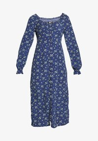 Missguided - BUTTON MILKMAID MIDI DRESS FLORAL - Kjole - navy - 4