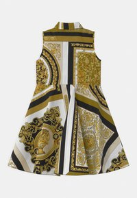 Versace - PRINT HERITAGE - Shirt dress - white/gold/kaki - 1