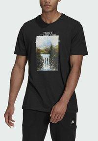 adidas Performance - MOUNTAIN TEE M - Print T-shirt - black - 3