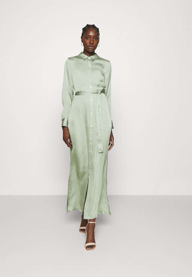 EASY SHIRTDRESS SOFT - Robe longue - sage bouquet