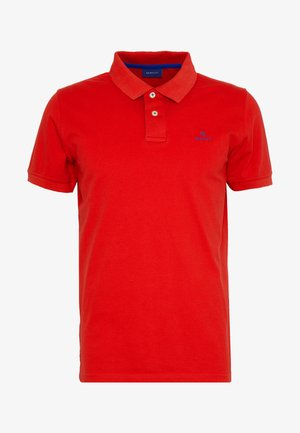 CONTRAST COLLAR RUGGER - Polo - bright red