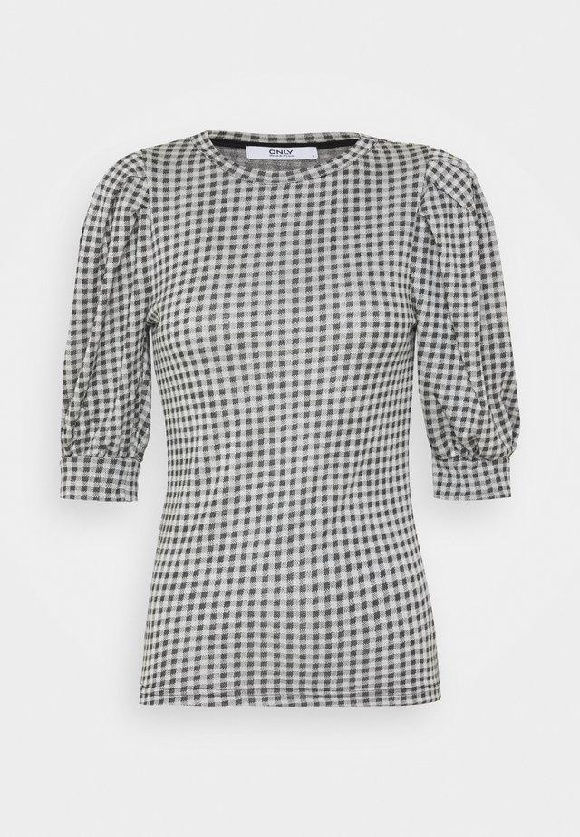 ONLSANDY CHECK - T-shirts print - light grey melange