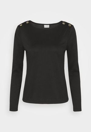 VITINNY SHOULDER BUTTONS - Long sleeved top - black
