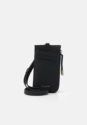 NATHAN ZIPPED STRAP CARDS HOLDER - Peněženka - noir
