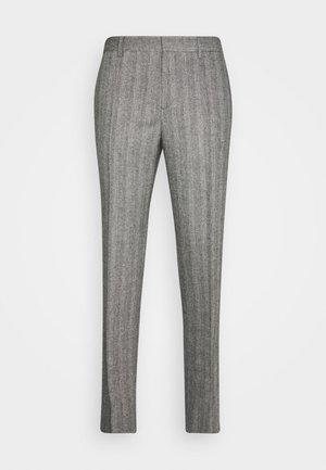LEO HERRINGBONE  - Pantalon de costume - black