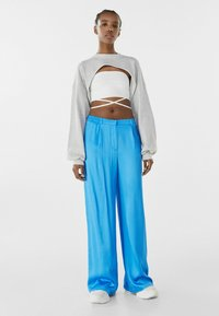 Bershka - Trousers - blue - 1